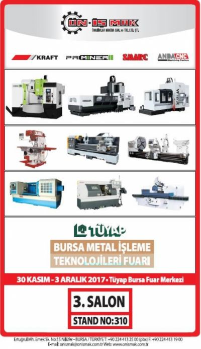 BURSA METAL PROCESSING TECHNOLOGY BETWEEN 30 NOVEMBER-03 DECEMBER